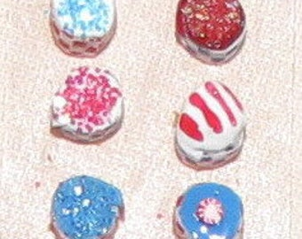 Quarter Scale 4th of July Cupcakes No. 1