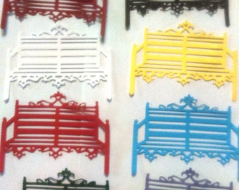 10 pattern bench for scrapbooking or cardmaking embellishments