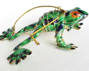 Frog Toad Ornament Enamel Articulated Body