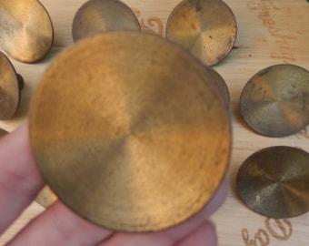 Set of 12 Brass Metal Door handles c 1950s, Round furniture handles, Furniture Knobs,