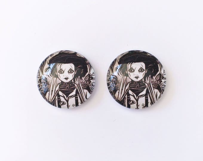 The 'Edward Scissorhands' Glass Earring Studs