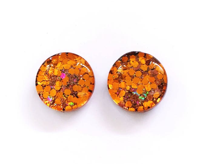 The 'Rustic' Glass Glitter Earring Studs