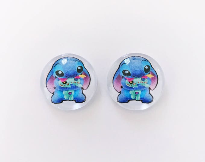 The 'Lilo & Stitch' Glass Earring Studs