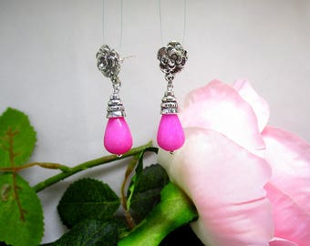 romantic earrings soft pink.