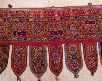 Toran Decor: vintage MachuKatha Valence, Door topper, Toran, Traditional Temple decor, window decor, Van/ Bus decor