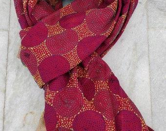 Best Quality Kantha silk scarf, reversible hand embroidered Kantha beach wrap Ibiza, Bohemian shoulder wrap, Kantha neck warmer