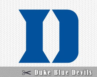Duke Blue Devils Layered SVG PNG DXF Vector Cut File Silhouette Studio Cricut Design Template Stencil Vinyl Decal Tshirt Transfer Iron on