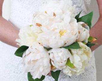 Bridal bouquet, wedding day bouquet, bridesmaid bouquet, Peony bouquet,brides Bouquet, wedding flowers, custom made Bouquet,
