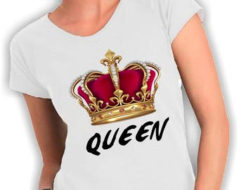 Queen neck t-shirt
