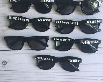 Kids sunglasses/personalized sunglasses/party favors/end of year student gift/summer party/wedding favor/ring bearer gift/flower girl gift