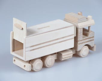 Wooden Truck Moneybox