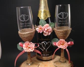 Wedding toasting set