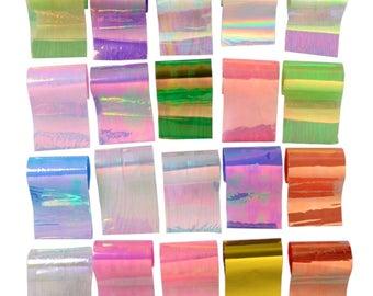 Set 20pcs stripes Angelina films of different colors (each strip about 20 cm)