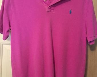 Polo Ralph Lauren Hot Pink Polo Button Shirt