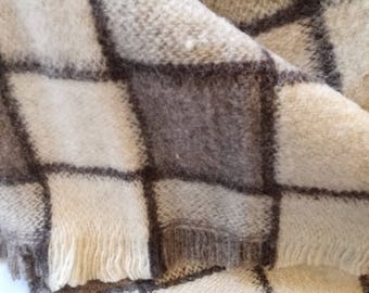 Wool Blanket and Throw NATURAL COLOURS 100% Organic wool Gift for Her Gift for Him Home Gift Cottage style Made in EUROPE!
