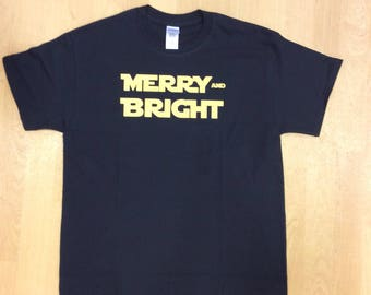 Star wars merry and bright holiday: t-shirt, tank, or long sleeve