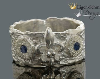 """Silverring, """"Lily"""", 925 Sterling silver"""