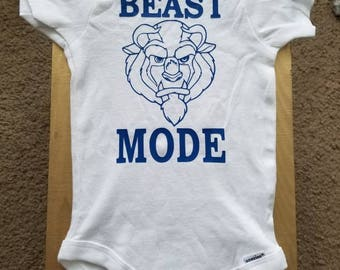 Beast Mode Beauty and the Beast Boy Onsie