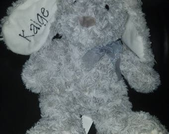 Embroidered grey bunny kaige
