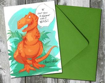 T-Rex Dinosaur – Birthday Card