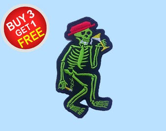 Skeleton Patches Iron On Embroidered Patches Iron On Embroidered Applique