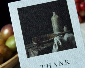 Thank you cards//still life postcards//Pack of 5 stoneware still life thank you postcards with envelopes//art cards // still life photograph