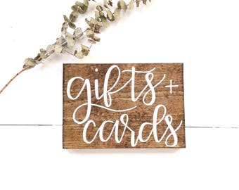 Gifts and cards sign | wedding gifts sign, rustic wedding decor, rustic wedding signs, rustic wood signs, wood gifts sign, cards and gifts