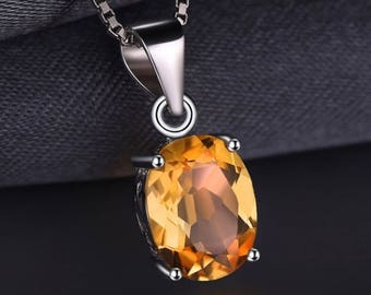 Sterling Silver Citrine Necklace