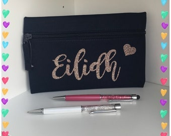 Custom personalises pencil case - school - student