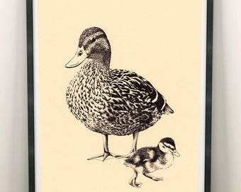 Duck A4 Print