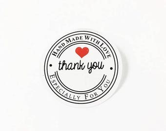 "48 PCS ""Thank you"" sticker, Seals, Scrapbooking, Scrapbook Supplies, Stationary, Paper, Paper Stickers, Stickers, Paper Supplies"