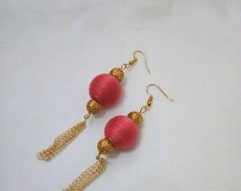 Jewellery, Earrings, Drop Earrings, Chain Earrings, Handmade Earrings, Ball Earring, Drop Earrings, Layered Earrings, Chain Earring