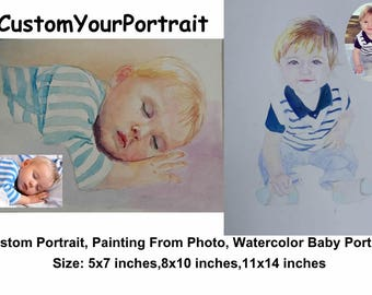 custom portrait watercolor painting custom watercolor painting custom portrait painting watercolor portrait custom portrait from photo