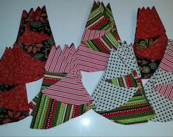 Christmas Tree cloth napkins