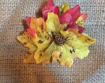 Pinup Hair Flower - Autumn Leaves