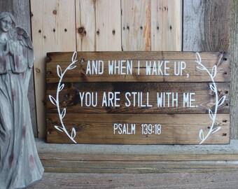 Rustic Bible verse Psalm 139:18