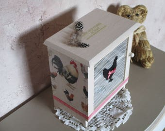 Egg spirit box retro country chic