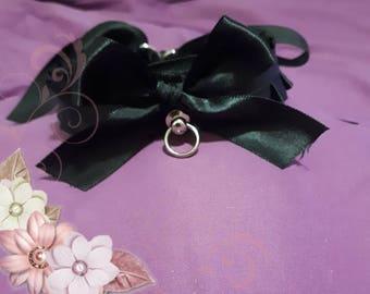 Basic black bdsm collar