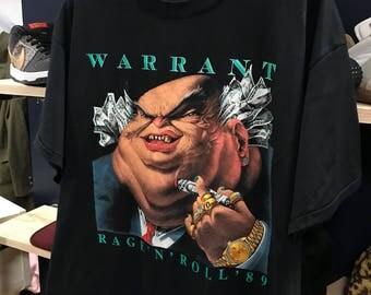 89' Warrant Rage' n roll t-shirt