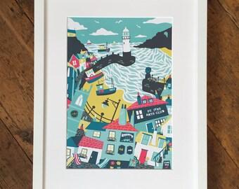St Ives, Cornwall - Original, digital art print