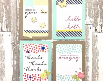 C039 - Handmade All-Occasion Greeting Note Card Set of 4