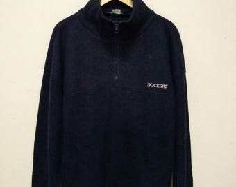 Dockers Sweater Sweatshirt Jumper Pullover Zipper