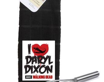 The Walking Dead I Love Daryl Dixon  Logo  Kitchen Towel