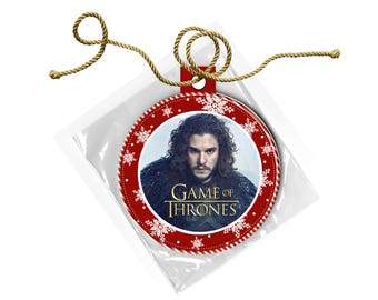 Game of Thrones Jon Snow Kit Harrington Christmas Ornament