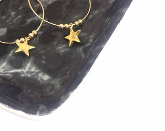 """Earrings """"Stella"""" gold filled and vermeil"""