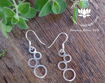 Sterling Silver Bubble Earrings, Bubble Earrings, Aqua Bubble Lovers,Elegant Earrings,Light Silver Earrings, Boho Earrings, Bubble jewellery