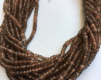Rare andalusite 3mm rondelle faceted beads,andalusite 14 inch beads