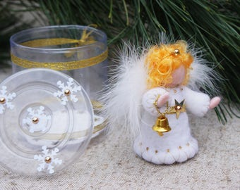 Angel, Needle felt Angel, Angel doll, Felted Angel, Angel ornament, Waldorf Angel