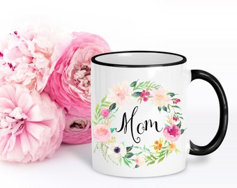 Gift for Mom | Floral Coffee Mug | Unique Gifts for Her | Feminine Cups | Big Mugs | Mothers Day Gift
