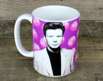 Rick Astley Mug gifts for jokesters 80s music rickroll your friends with a thoughtful gift Cinnamon Rolls
